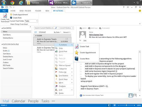 Customize Outlook 2013 2010 Context Menus And Menu Bar | customize outlook 2013 2010 context menus and menu bar