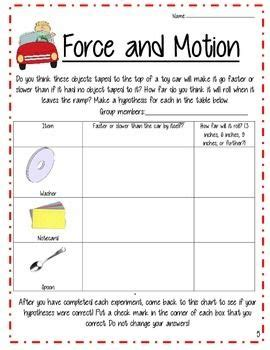 Forces And Motions Worksheets by And Motion Worksheets 5th Grade Photos Getadating