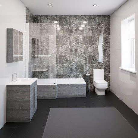 Modern Bathroom Suites by Thorpe Complete Modern Grey Ash Bathroom Suite With Left