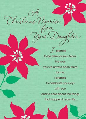 daughter christmas promise christmas card cardstore