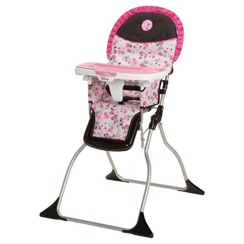 simple baby high chairs disney simple fold plus high chair minnie garden delight