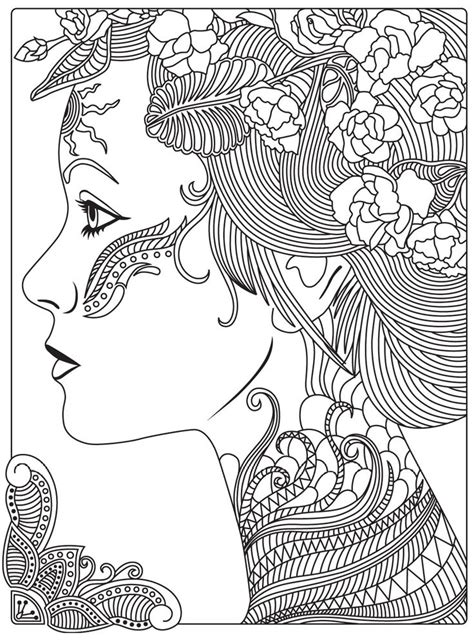 girly coloring pages for adults 578 best coloriages girly images on pinterest