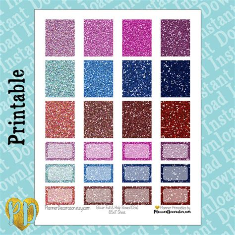printable glitter stickers glitter printable planner stickers full box half box