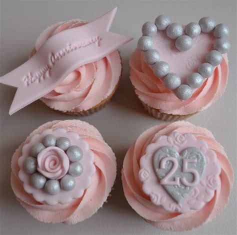 Cupcake Wedding Anniversary paper cakes 25th silver wedding anniversary cupcakes
