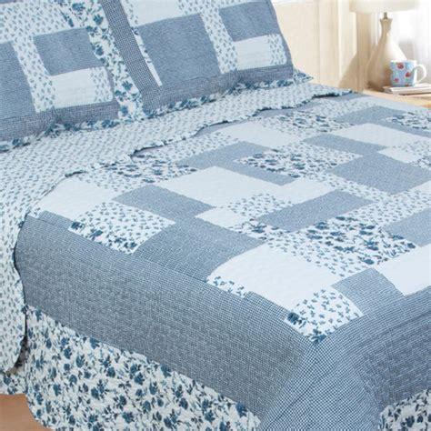 Patchwork Bedspreads Uk - restmor natalie scalloped floral patchwork quilted