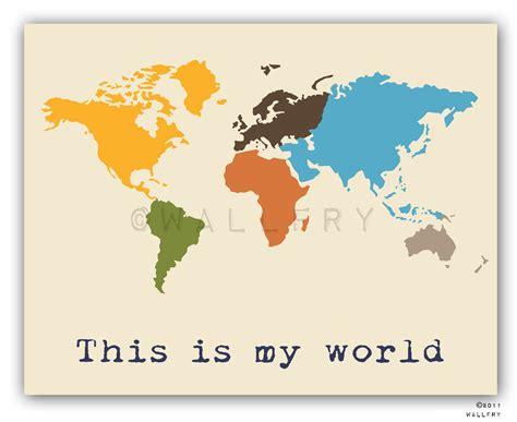 Printable World Map Art | kids wall art world map print childrens wall art kid