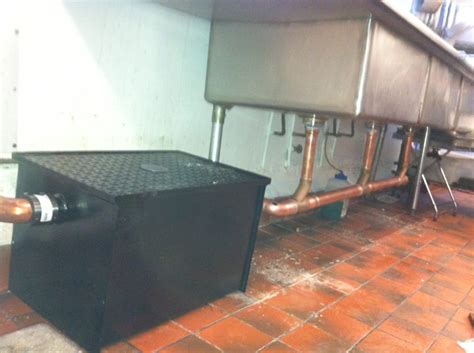 Commercial 3 compartment sink drain and grease trap