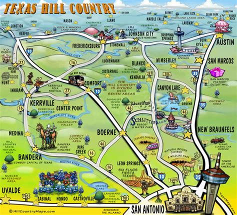 map of texas hill country texas hill country photo