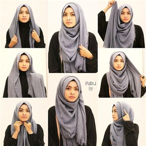 tutorial hijab chic simple hijab inspiration for oval face
