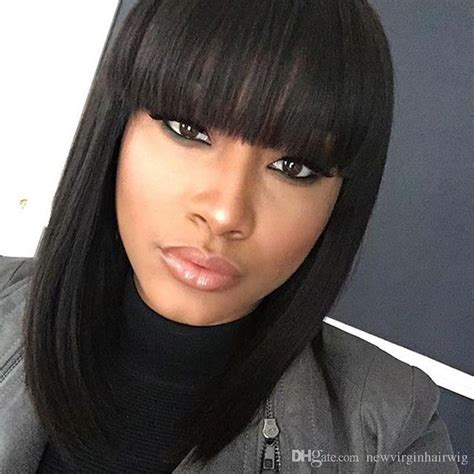 Hairstyle Wigs With Bangs by 17 Best Images About Human Hair Bob Wig On
