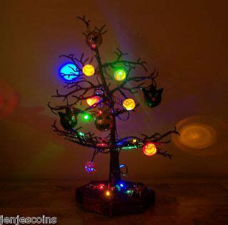 light up halloween tree halloween footed ceramic pumpkin with spider party candy