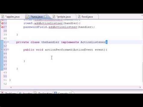 youtube tutorial java programming java programming tutorial 53 actionlistner youtube