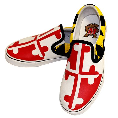 maryland sneakers maryland flag slip on shoes route one apparel