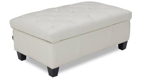 White Tufted Ottoman Carson Tufted Contemporary Ottoman White Zuri Furniture