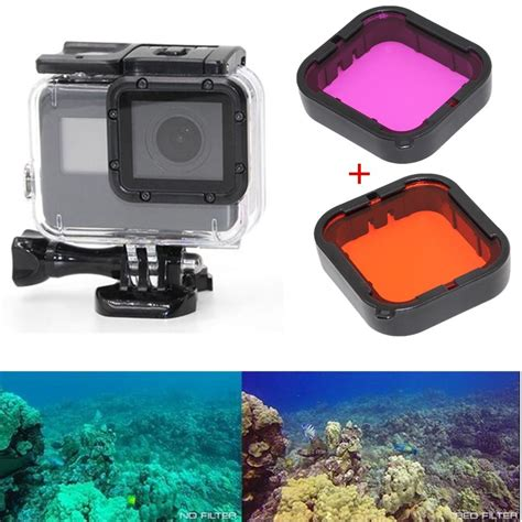 Supersuit Housing Gopro 5 Black Original 2pcs magenta filter lens filter pouch for gopro 5 supersuit housing ebay