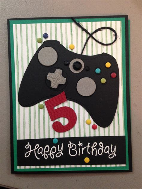 how to make a birthday card for boys birthday card for my gamer yup made it myself