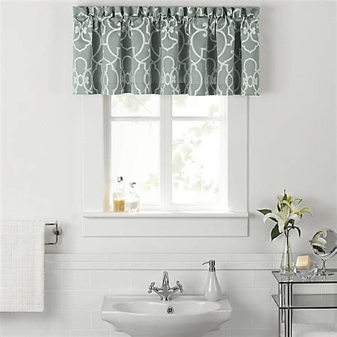 valance curtains for bathroom vue 174 signature iron gates bath window curtain valance