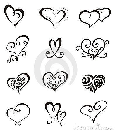 tattoos de corazones elementos decorativos vector en forma de coraz 243 n para