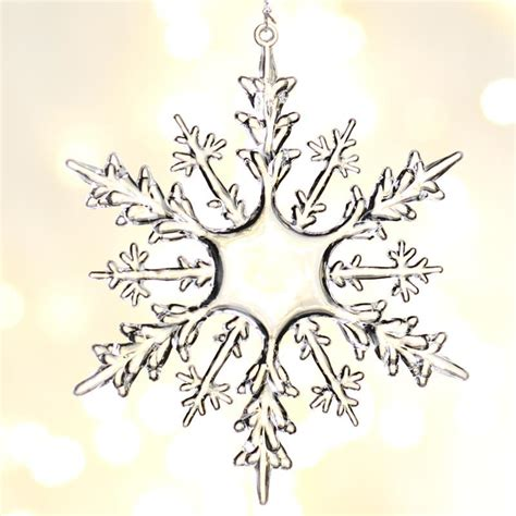 clear ornament crafts clear acrylic snowflake ornaments ornaments