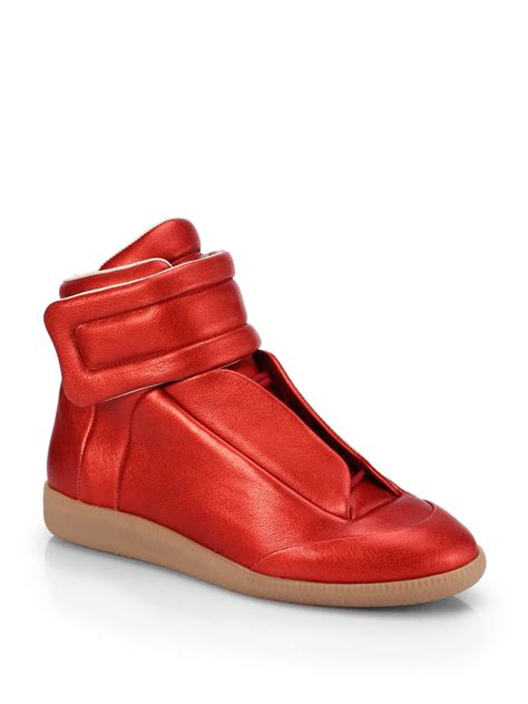 margiela mens sneakers maison margiela future leather hightop sneakers in for