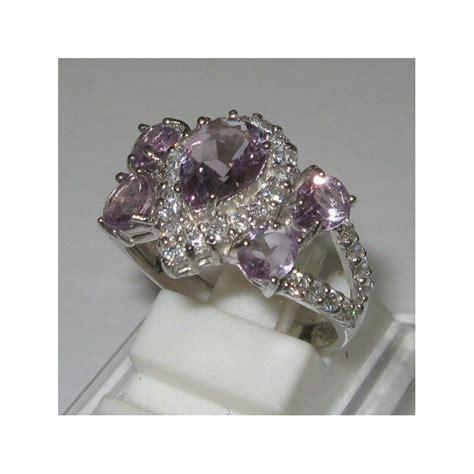 Cincin Silver Lapis Platinum Berlian Imitasi Batu Kuning Bulat jual cincin silver ring 8us rich purple pear amethyst