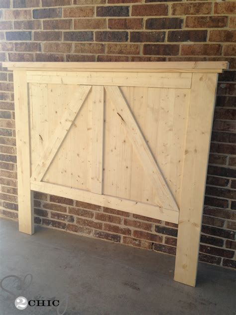 how to mount a door as a headboard diy barn door headboard shanty 2 chic
