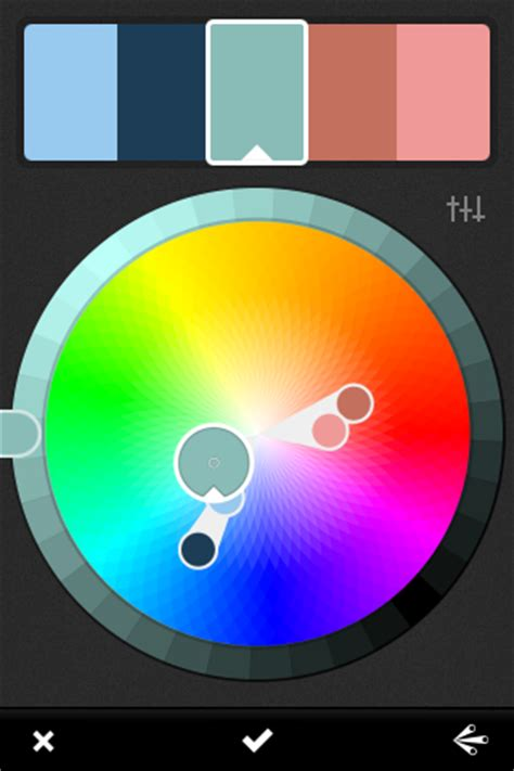 adobe kuler for iphone create color themes from images or