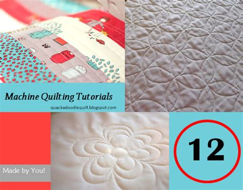 How To Put Together A Quilt by Quackadoodle Quilt 12 Machine Quilting Tutorials