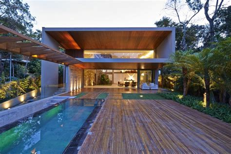 brazilian homes brazil house with luxe garden and outdoor living layout