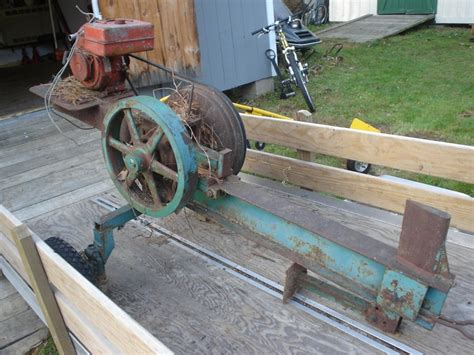 home built flywheel log splitter inertia log splitter