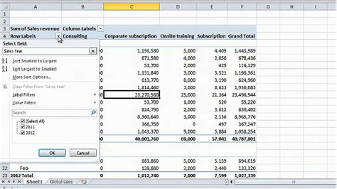 Excel Pivot Table By Month by Business Productivity 187 How To Filter And Sort A Pivot