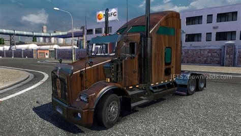 Wood Skin For Kenworth T800 Euro Truck Simulator 2 Mods
