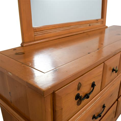 Buy Dresser 77 Wood Seven Drawer Dresser With Cutout Mirror