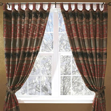 cabin curtains western rustic curtains drapes valances pillows