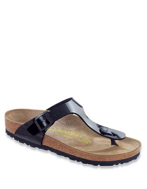 birkenstock designer sandals birkenstock gizeh birko flor t sandals in black lyst