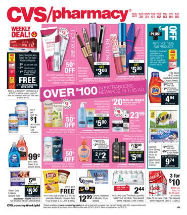 cvs pharmacy weekly ad specials august  september