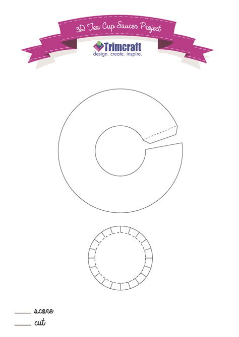 8 best images of free printable tea cup template 3d