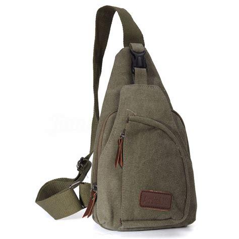 Sling Bag Nature Hike mens backpack bike motorcycle hiking messenger shoulder sling chest bag ebay