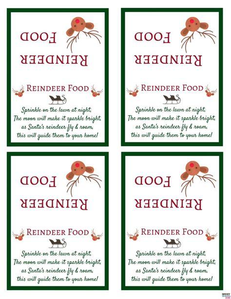 printable magic reindeer food poem santa s magic reindeer food with free printable bag topper