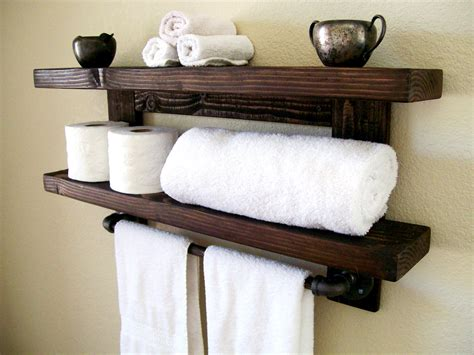Bathroom: Towel Shelves Slim Shelves Towel Rack With Shelf