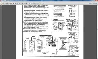 Garage Door Opener Wire Genie Garage Door Opener Wiring Diagram Wiring
