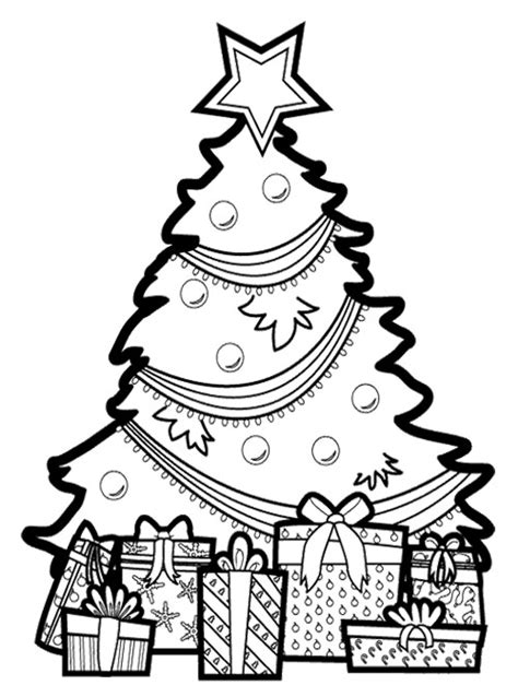 christmas tree and presents coloring page free coloring pages of christmas tree