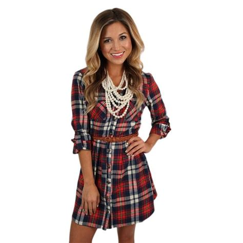 Southern Comfort Boutique by Southern Comfort Flannel Dress In Impressions