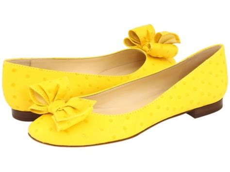 Etro Yellow Bow Flats by Chic On The Cheap Look For Less Kate Spade Yellow Bow Flats