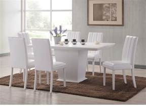 White Leather Dining Chairs And Table Best White Leather Dining Room Set Pictures Ltrevents Ltrevents