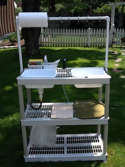collapsible camp washing station diy light weight