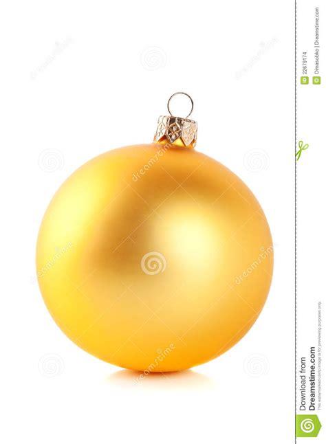 yellow christmas ball stock images image 22679174