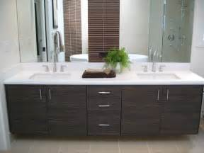 White Laminate Vanity Foloating Vanities Textured Laminate Contemporary Bathroom