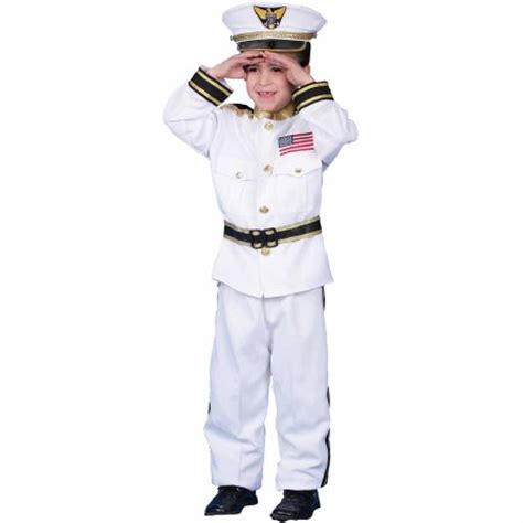 Set Kid Vina 2 In 1 Navy navy admiral child costume walmart