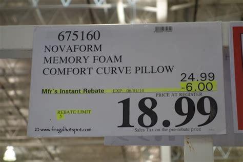 novaform memory foam comfort curve pillow costco price